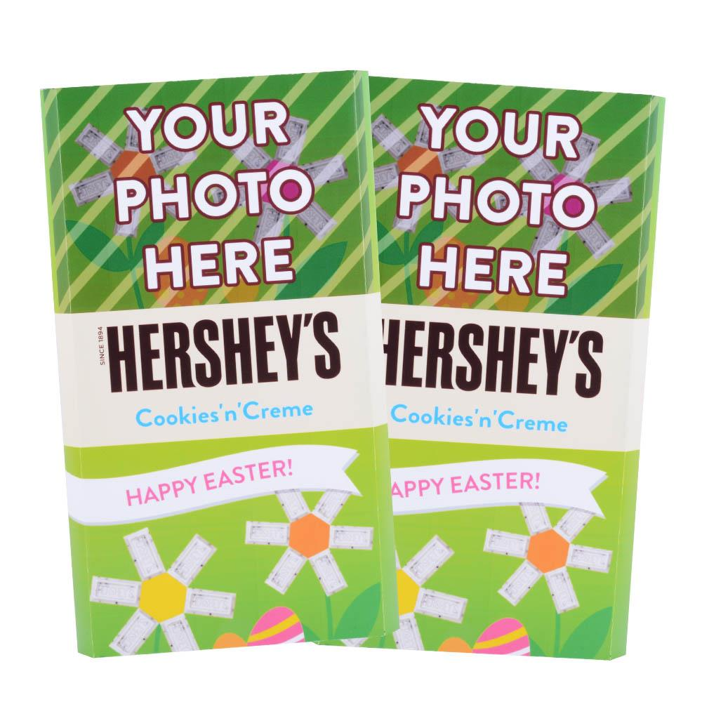 Easter Flowers Design<br>Personalized HERSHEY'S Giant Cookies 'n' Creme Candy Bar<br>(2 pack)