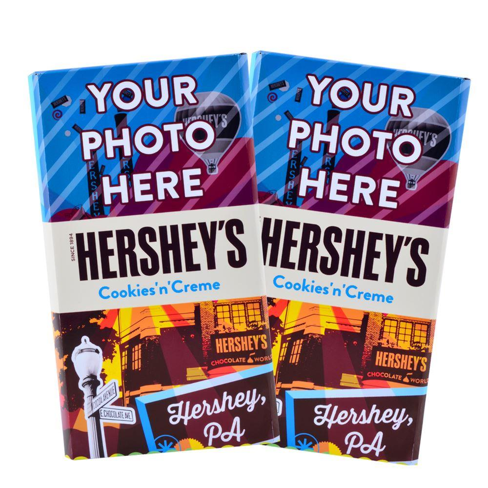 Destination Hershey, Pa. Design<br>Personalized HERSHEY'S Giant Cookies 'n' Creme Candy Bar<br>(2 pack)