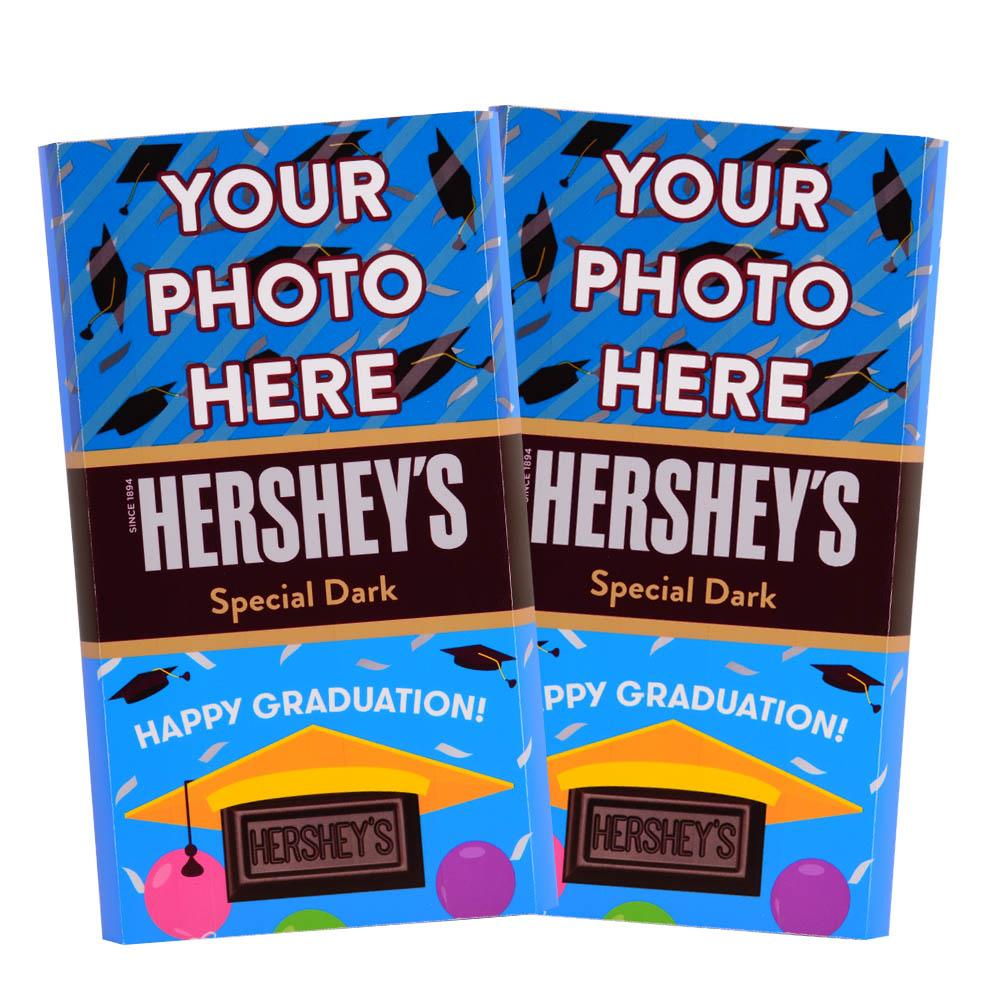 Graduation Design<br>Personalized HERSHEY'S Giant Special Dark Candy Bar<br>(2 pack)