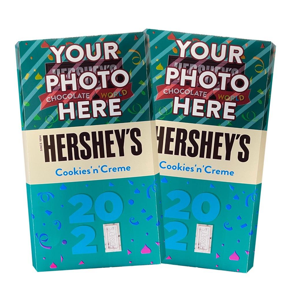 New Year 2021 Design<br>Personalized HERSHEY'S Giant Cookies 'n' Creme Candy Bar<br>(2 pack)