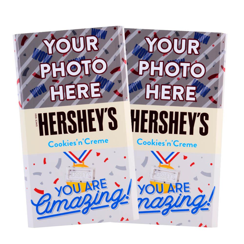 Amazing Confetti Design<br>Personalized HERSHEY'S Giant Cookies 'n' Creme Candy Bar<br>(2 pack)