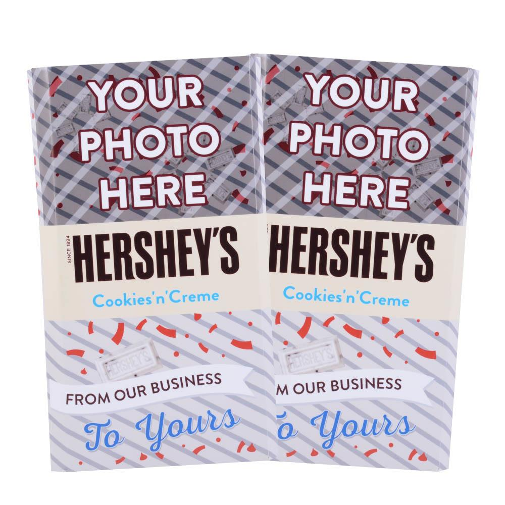 Business to Business Design<br>Personalized HERSHEY'S Giant Cookies 'n' Creme Candy Bar<br>(2 pack)