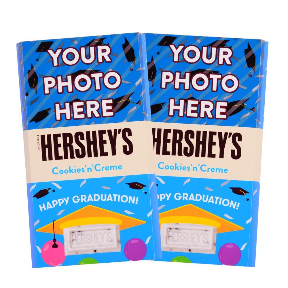 Graduation Design<br>Personalized HERSHEY'S Giant Cookies 'n' Creme Candy Bar<br>(2 pack)