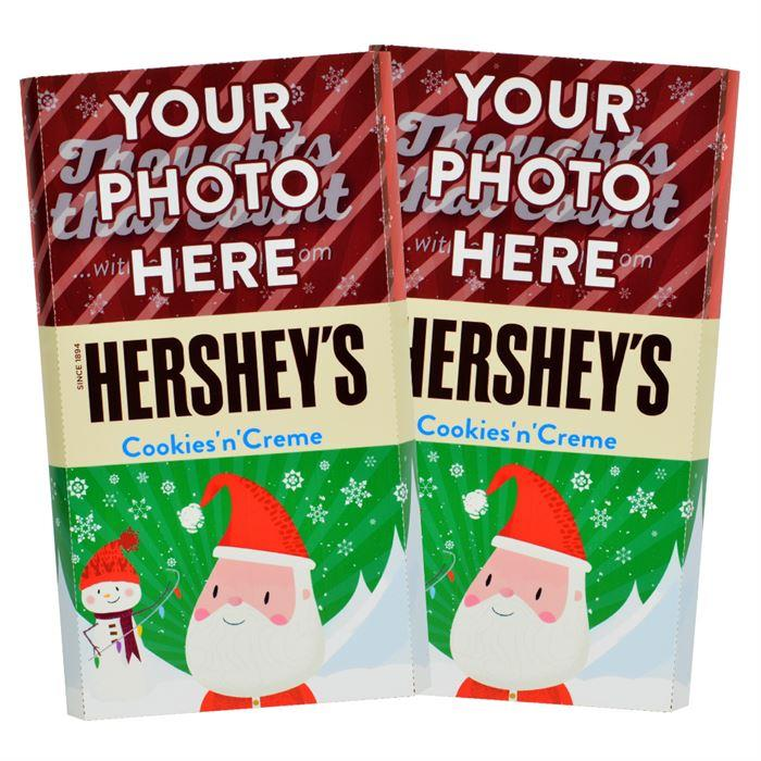 Santa<br>Personalized HERSHEY'S Giant Cookies 'n' Creme Candy Bar<br>(2 pack)