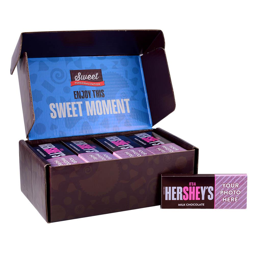 It's a She! Design<br>Personalized HERSHEY'S 1.5oz Milk Chocolate Bar<br>(36 pack)