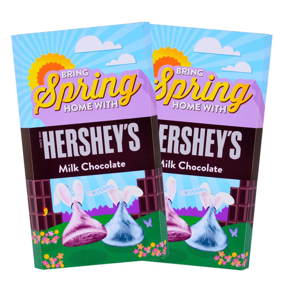 Hershey Springtime Design<br>Personalized HERSHEY'S Giant Milk Chocolate Bar<br>(2 pack)