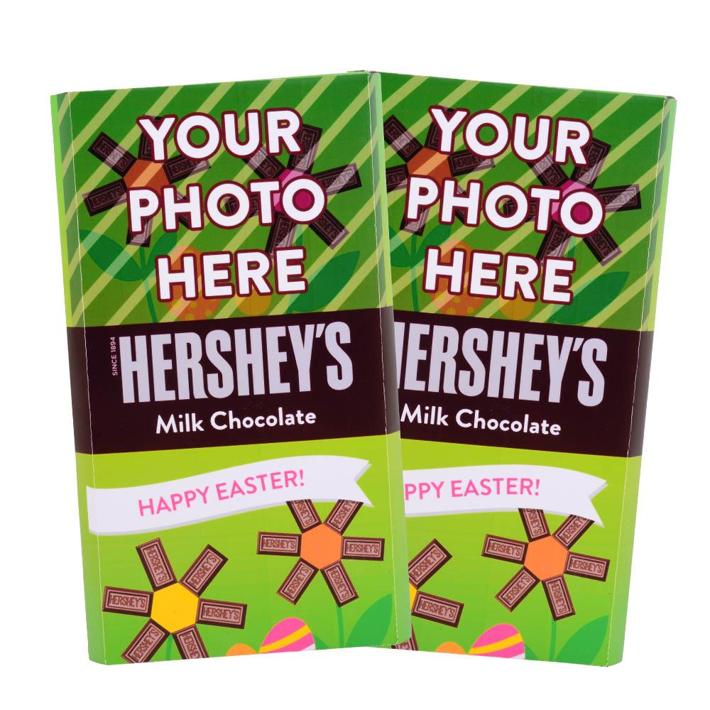 Easter Flowers Design<br>Personalized HERSHEY'S Giant Milk Chocolate Bar<br>(2 pack)