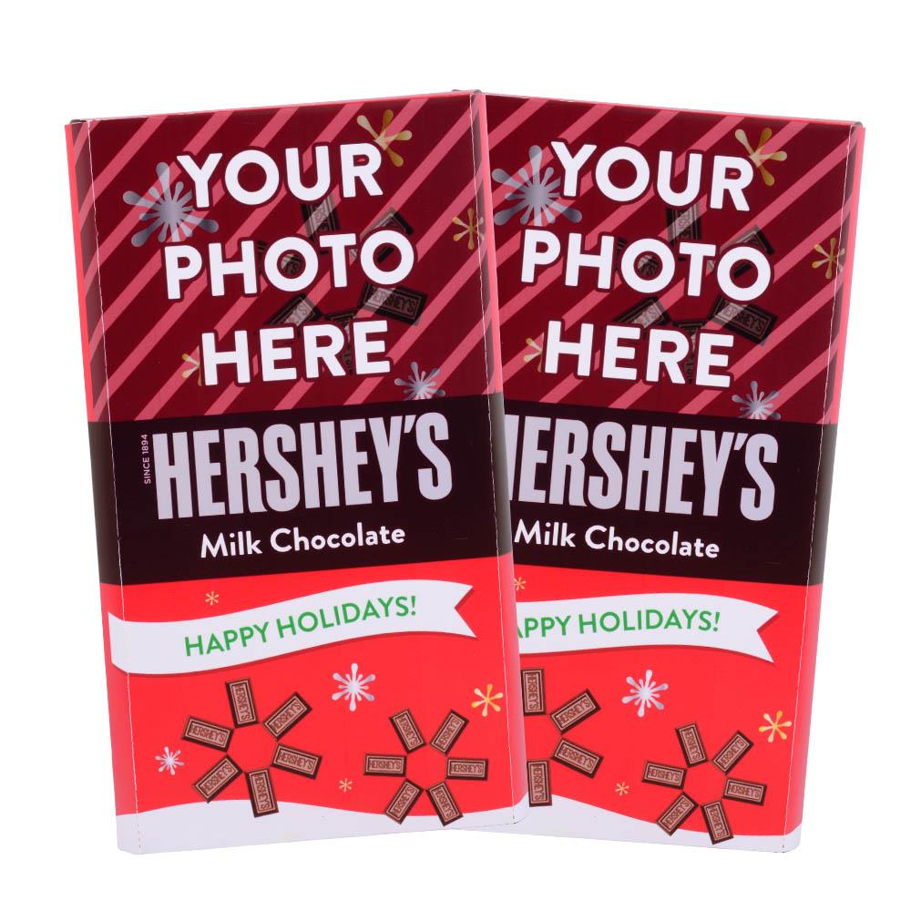 Happy Holidays Design<br>Personalized HERSHEY'S Giant Milk Chocolate Bar<br>(2 pack)