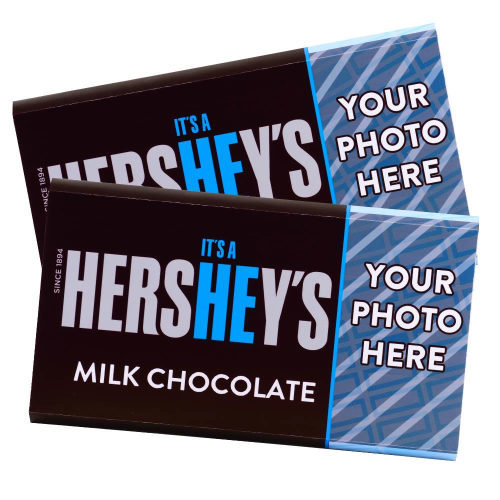 It's a He! Design<br>Personalized HERSHEY'S Giant Milk Chocolate Bar<br>(2 pack)