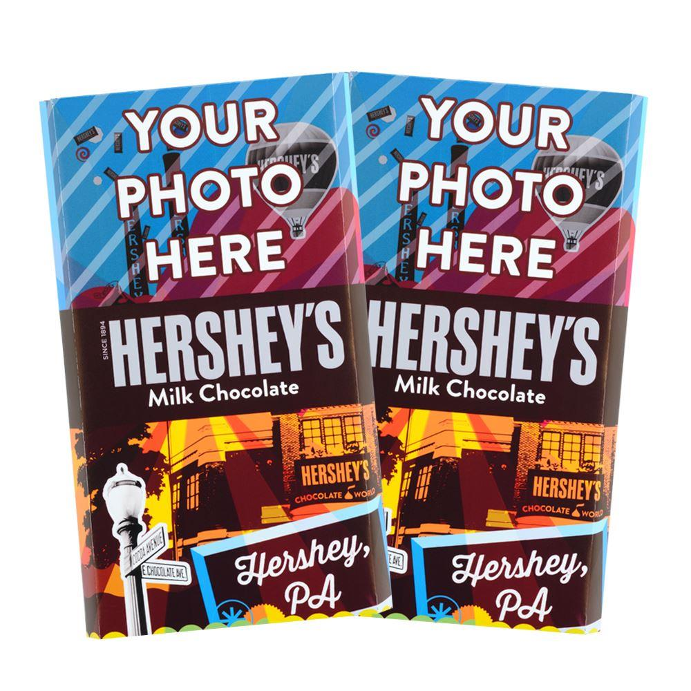 Destination Hershey, Pa. Design<br>Personalized HERSHEY'S Giant Milk Chocolate Bar<br>(2 pack)