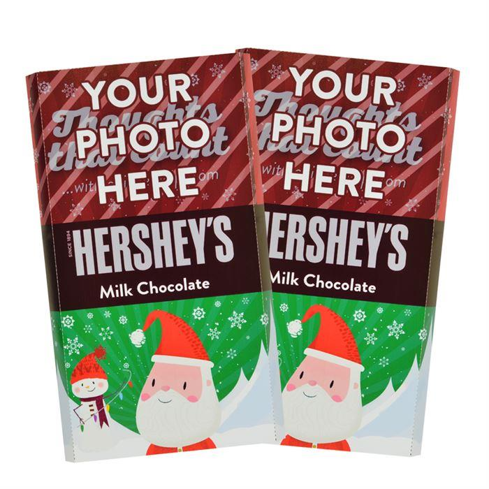 Santa Design<br>Personalized HERSHEY'S Giant Milk Chocolate Bar<br>(2 pack)