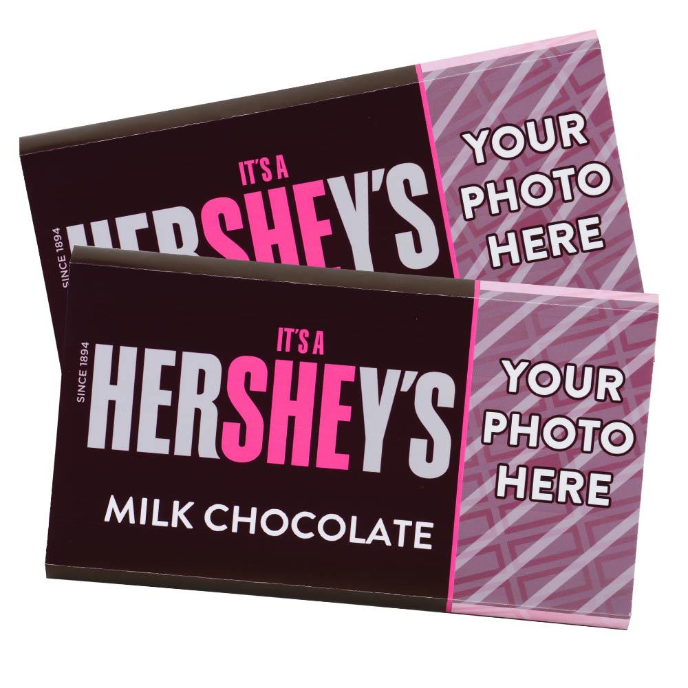It's a She! Design<br>Personalized HERSHEY'S Giant Milk Chocolate Bar<br>(2 pack)