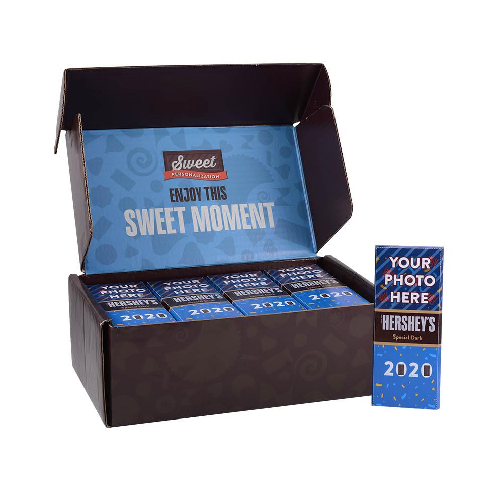 New Year 2020 Design<br>Personalized HERSHEY'S 1.45oz Special Dark Candy Bar<br>(36 pack)