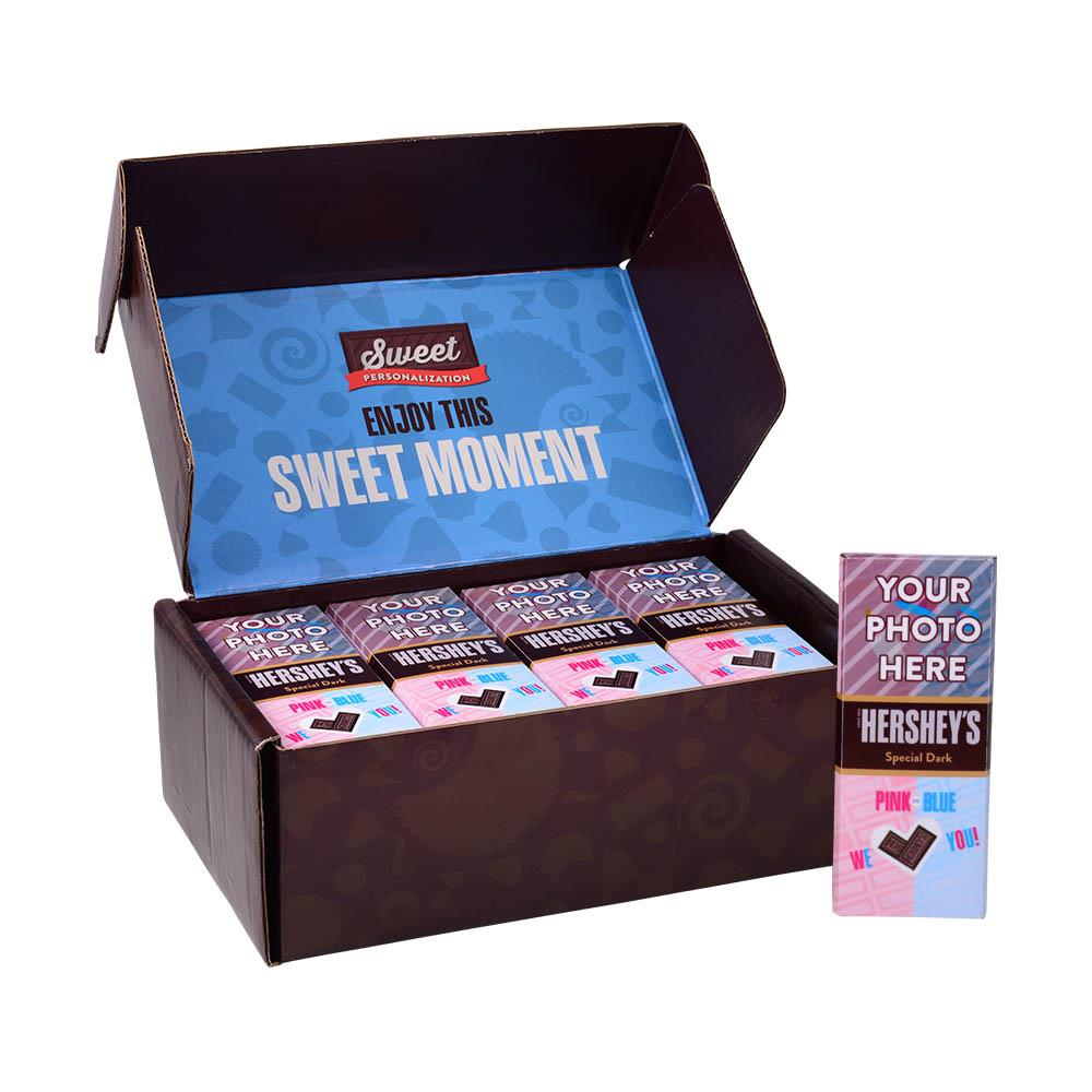 Baby Gender Reveal Design<br>Personalized HERSHEY'S 1.45oz Special Dark Candy Bar<br>(36 pack)