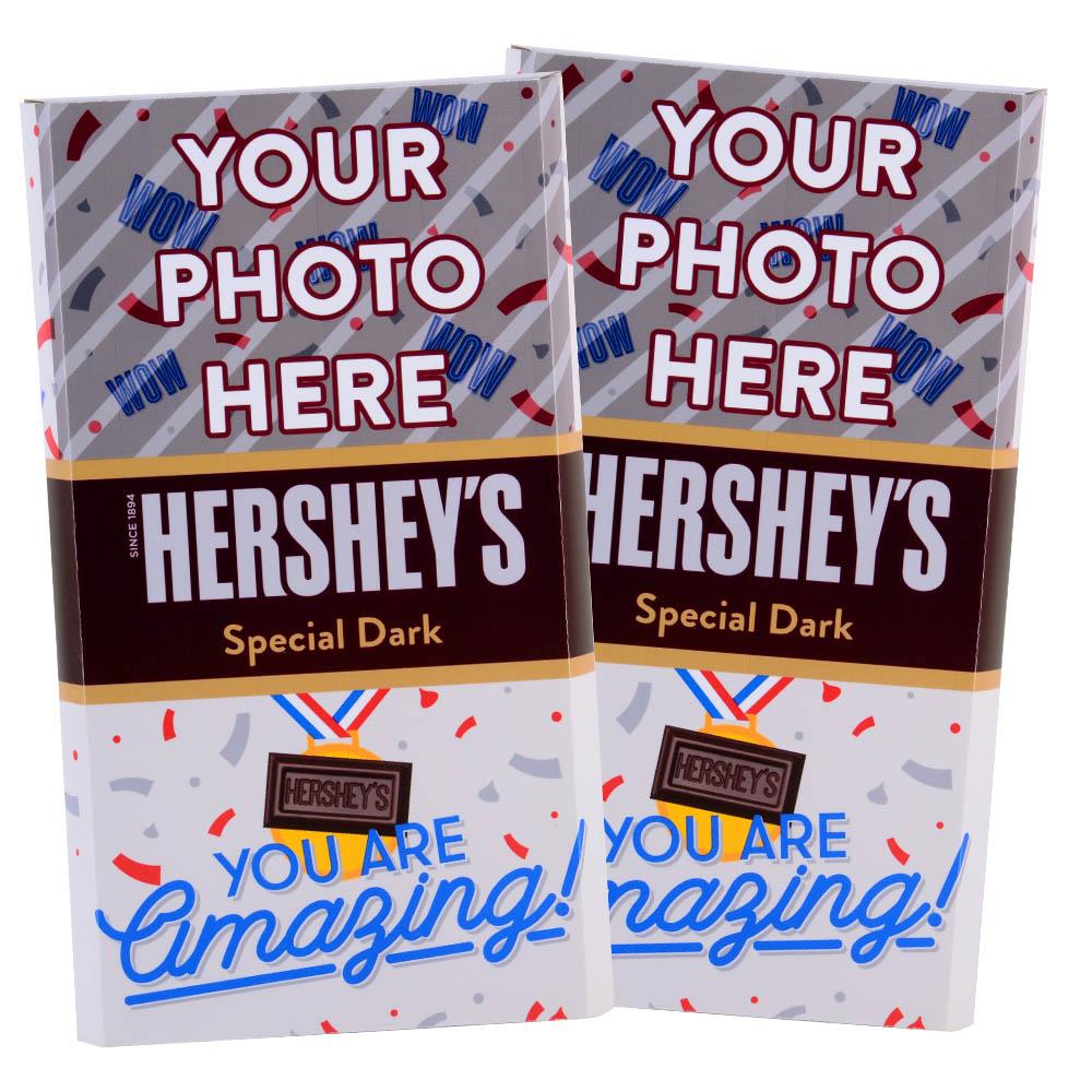 Amazing Confetti  Design<br>Personalized HERSHEY'S Giant Special Dark Candy Bar<br>(2 pack)