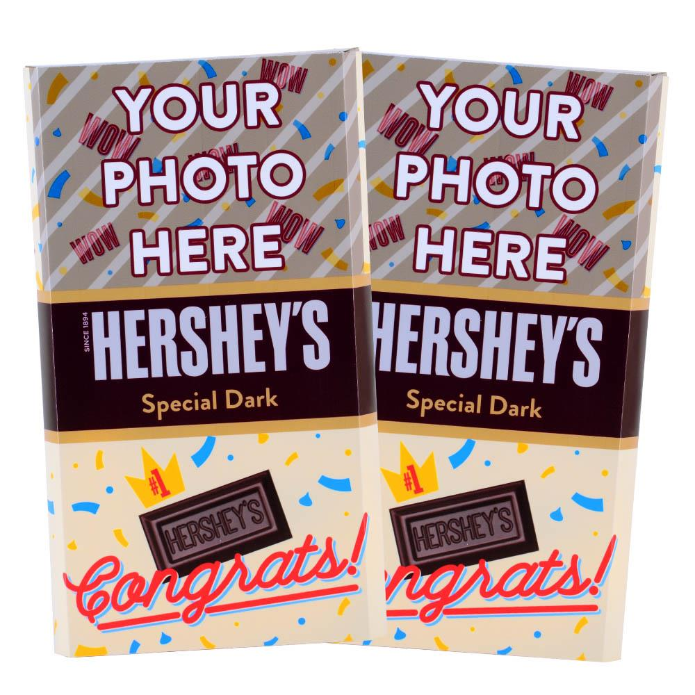 Congrats Confetti  Design<br>Personalized HERSHEY'S Giant Special Dark Candy Bar<br>(2 pack)