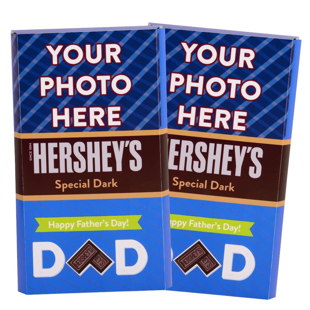 Father's Day Stripes  Design<br>Personalized HERSHEY'S Giant Special Dark Candy Bar<br>(2 pack)