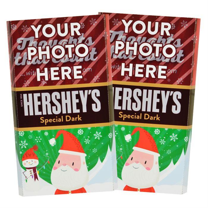 Santa<br>Personalized HERSHEY'S Giant Special Dark Candy Bar<br>(2 pack)